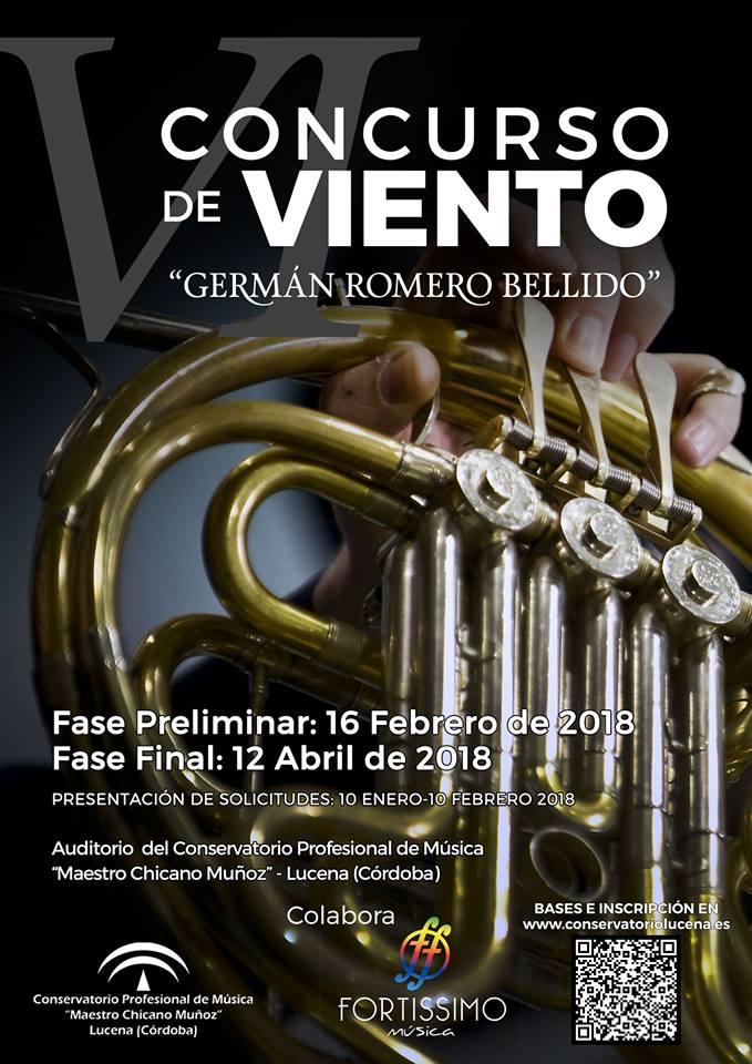 """VI Concurso de Viento """"Germán Romero Bellido"""" @ Conservatorio """"Maestro Chicano Muñoz"""""""