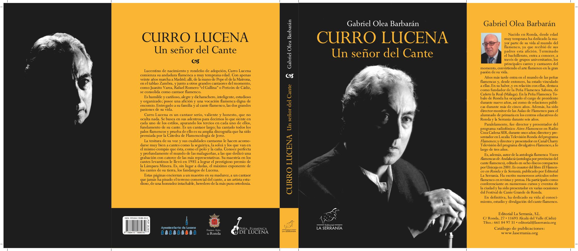 CURRO LUCENA: un señor del cante. @ Palacio Erisana