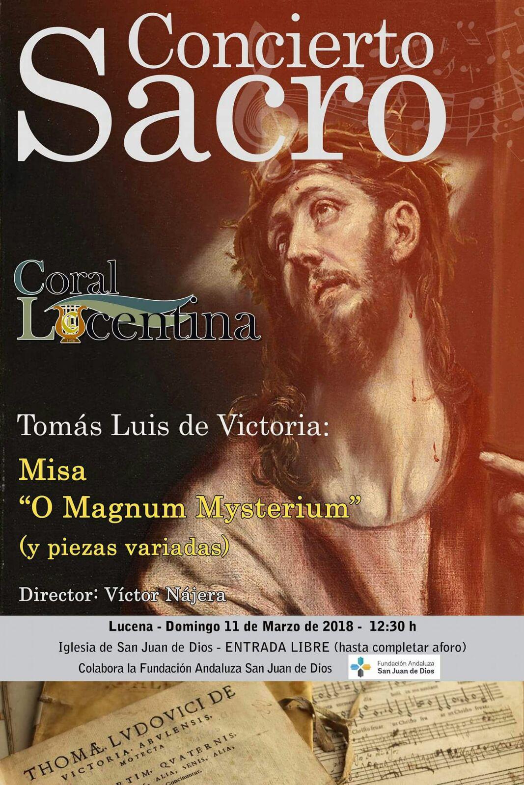 "Concierto ""O Magnus Mysterium"" Tomás L. de Victoria @ Iglesia San Juan De Dios"