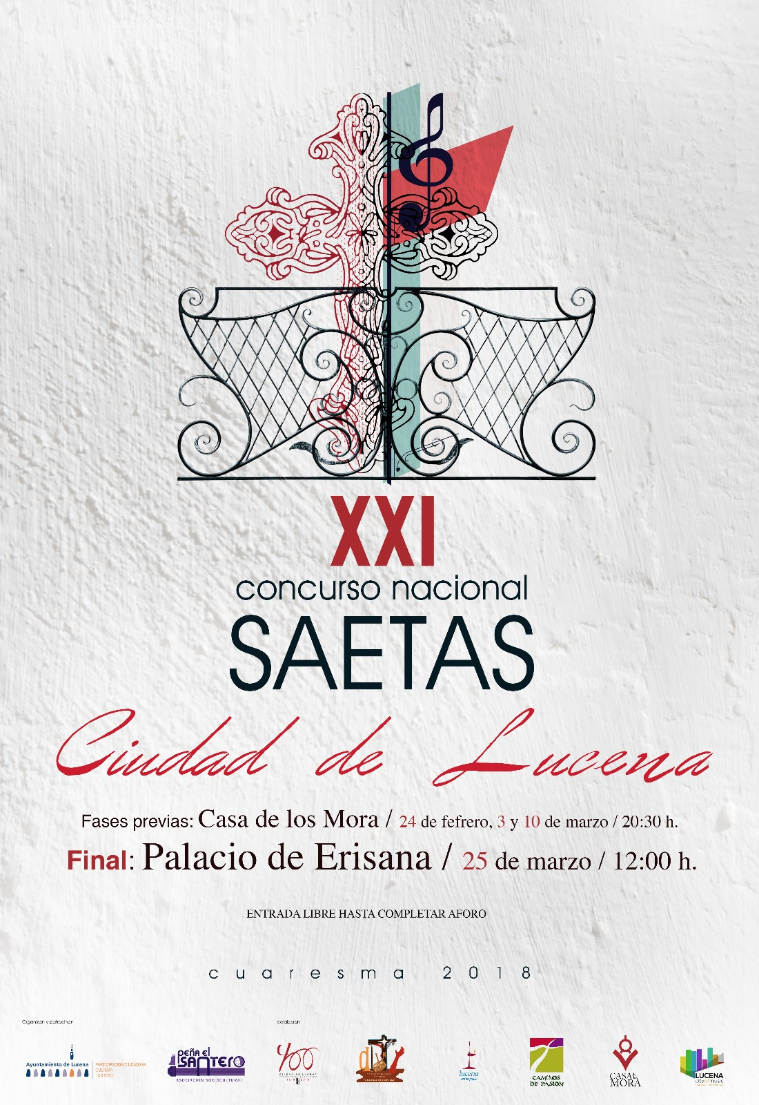 """XXI CONCURSO NACIONAL DE SAETAS """"CIUDAD DE LUCENA"""" @ Casa de los Mora y Palacio Erisana (Final)"""