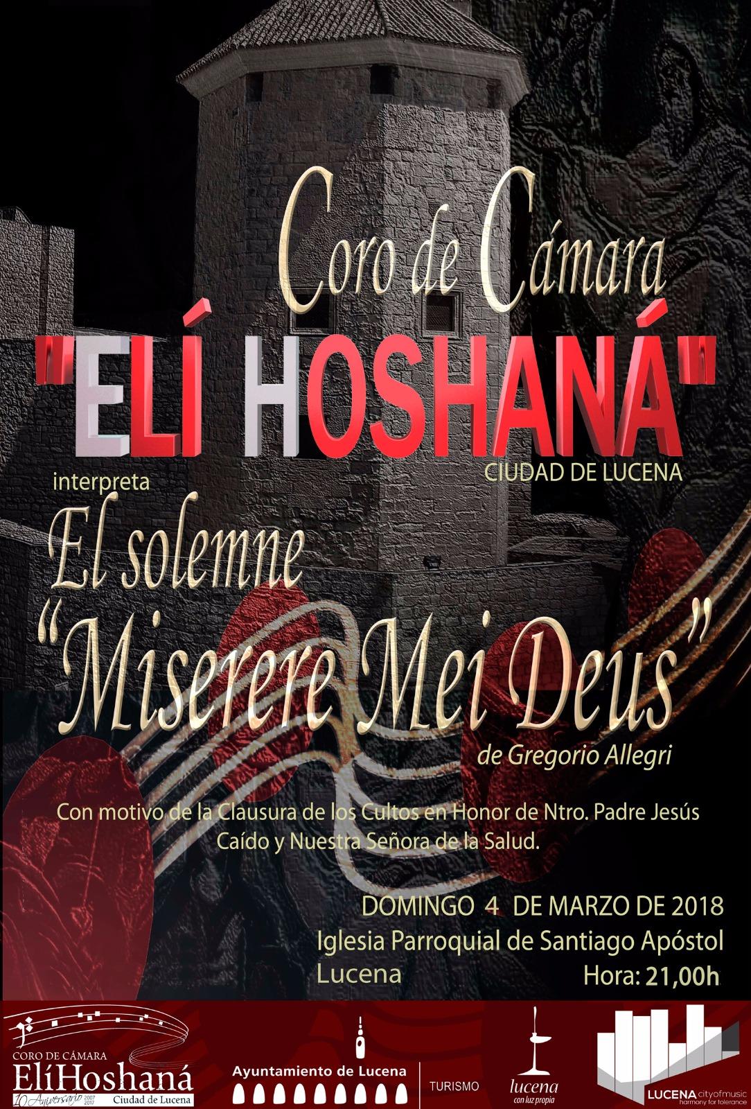 """Concierto """"Miserere Mei Deus"""" de Gregorio Allegri @ Iglesia de Santiago"""